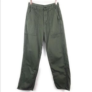 Topshop High Waist Olive Green Cargo Pants Size 6